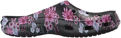 Freesail Sabots Black Plum Graphic Mehrfarbig Clog Noir Femme Women Crocs URPdxPa