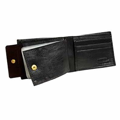 Luxury Divas Dark Brown Slim Photo Holding Men's Bifold Wallet