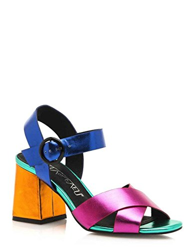 SIXTY SEVEN Wide-Heeled Multicolour Sandal by Sixtyseven Multi