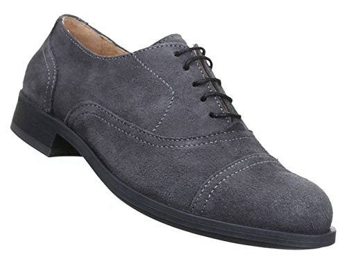 Herren Halbschuhe Schuhe Leder Außen Schnürschuhe Business Schwarz Blau Grau 41-46 Grau