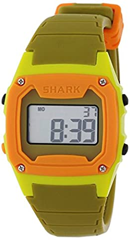 Freestyle Unisex 102280 Classic Green Case Digital Silicone Strap Watch (Freestyle Shark Green Watch)