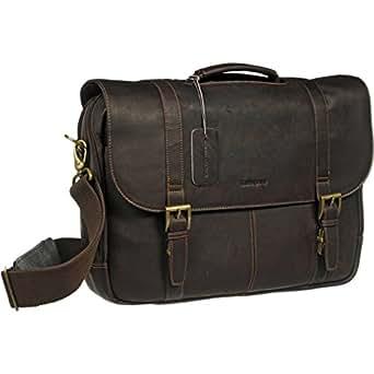 Samsonite Colombian Leather Flap-Over Messenger Bag, Espresso