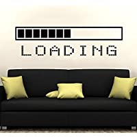 Loading Bar Wall Decal Vinyl Sticker Decals Gaming Video Game Boy Room Decor Bedroom Men Gift Dorm Gamer Gifts Loading Bar Kids Decor ZX128