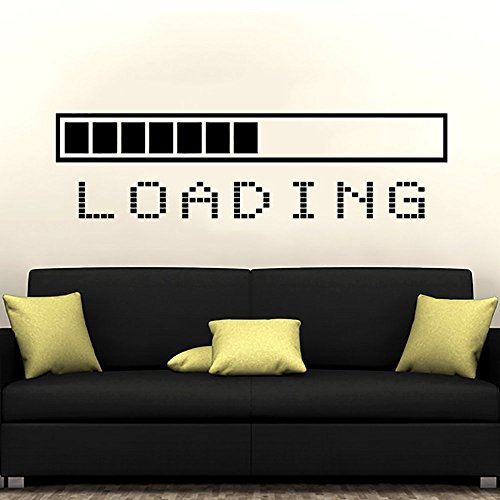 Loading Bar Wall Decal Vinyl Sticker Decals Gaming Video Game Boy Room Decor Bedroom Men Gift Dorm Gamer Gifts Loading Bar Kids Decor ZX128 by IncredibleDecals