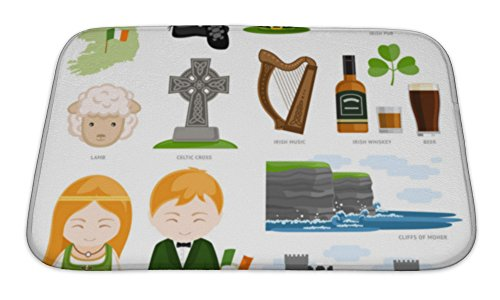 Celt Costumes For Children (Gear New Memory Foam Bath Rug, Travel To Ireland, 24x17, 6570388GN)