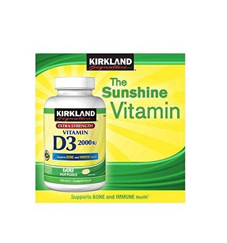 Kirkland Signature Vitamin D3 2000 IU 600 Ct Softgel