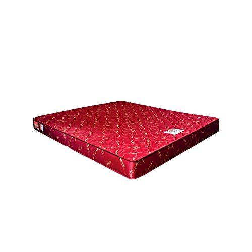 Coirfit Twin 5-inch Double Size Memory Foam Mattress (Red, 75x60x5)