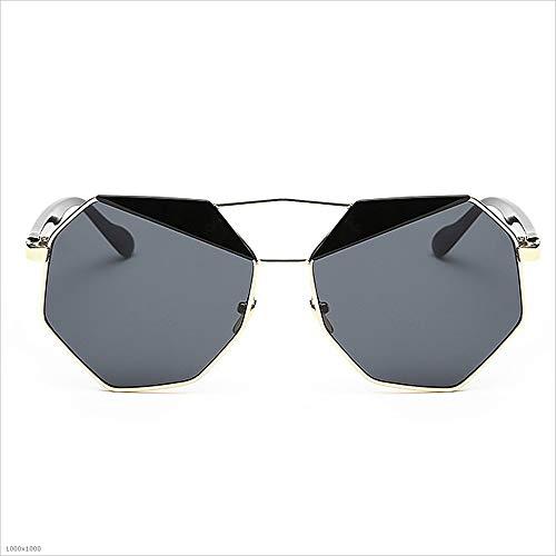 soleil soleil Noir les lunettes la protection de pour Lunettes femmes Vintage lunettes de De pour Polygon de Soleil soleil lunettes Miroir Classique disponi Femmes conduite UV de personnalité Lady cerclées SPqCz0w