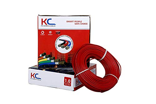 D'Mak™ KC-Cab PVC Insulated Wire And Single Core Flexible Copper Cables for Domestic/Industrial Electric | | Electric Wire | | (1.0 SQ/MM, Red)
