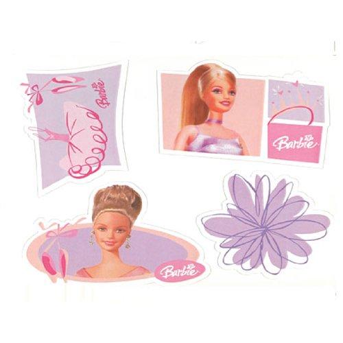 Mattel Stickers - Mattel Barbie Ballerina Wall Stickers 16pc Ballet Decals