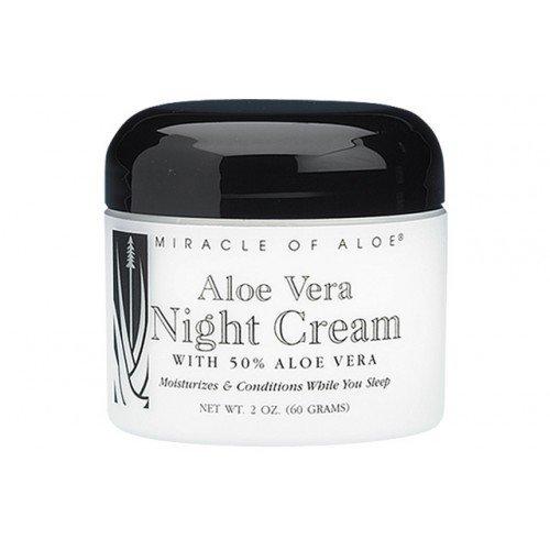 Aloe Vera Night Cream with 50% Pure (Ice Cream Anti Aging Moisturizer)