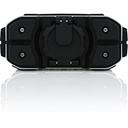 Braven BRV-Pro Wireless Bluetooth Speaker With 15 Hours of Wireless Playtime, Black / Silver / Cyan