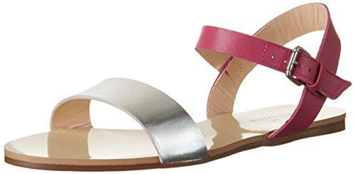 Sandales Compensées Flat Femme Biz Silver Multicolore Shoe vegetal Tyrkis RBZF4Enq