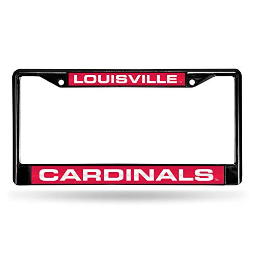 - PANGERA Louisville Cardinals Laser Black License Plate Frame