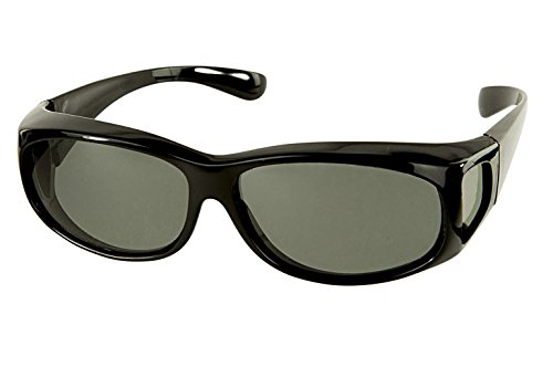 LensCovers Sunglasses Wear Over Prescription Glasses Extra Small Black - Frame Sunglasses Over