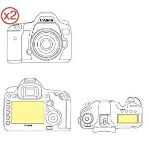 Martin Fields Overlay Plus Protector de Pantalla (Canon EOS 5DS / 5DS R) Doble pack - Includes Top LCD Screen Protector