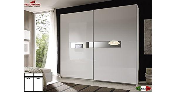 Armario de puertas correderas 555022 Armario 2-puertas blanca lacada de 240 cm: Amazon.es: Hogar