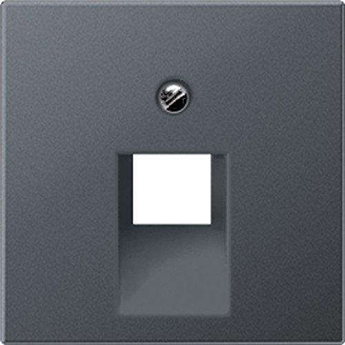 /1bfpluaanm Zentralplatte f/ür Steckdose Telefon UAE 1/x 8/polig anthrazit matt Jung A569/
