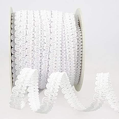 Gimp Braid Trim White per metre