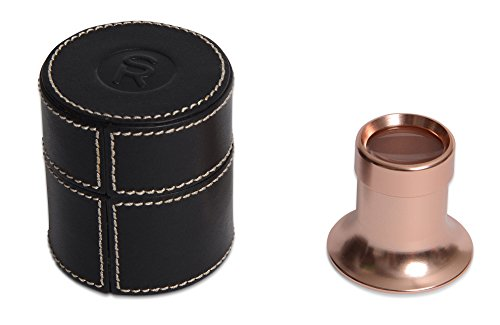 SWISS REIMAGINED Jewelers Watch Repair Magnifying Loupe Magnifying Glass - in Leather Case - Rose Gold