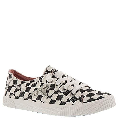 Blowfish Women's Fruit Sneaker (10 M US, Off-White Munkey Check Print)