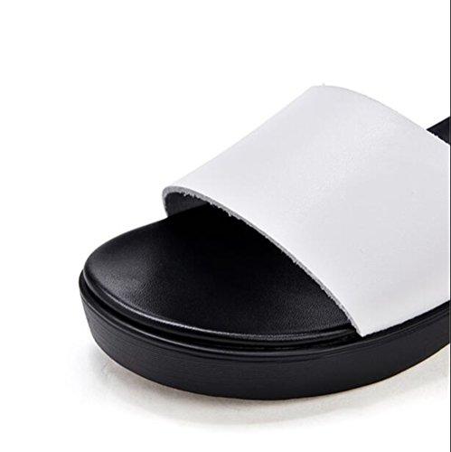 Adulti Interni Esterni Pantofole Mulo On O Scivolo Slip Sandali Donne Da White Per Toe Doccia Antiscivolo Per Per Le Per Open Bagno RDJM f1wqZOf