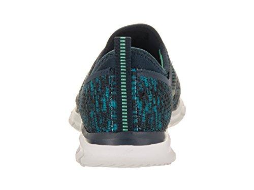 de Zapatillas Deep Glider Mujer azul Skechers para Deporte Space Negro xwvIwtT