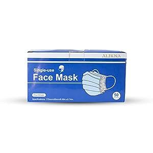 50 pcs Single Use 3-Ply Disposable Face Masks