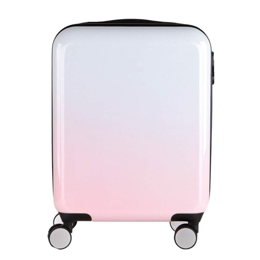 サイレントスーツケース 旅行搭乗ジッパースーツケースABS + PC素材グラデーションブルーピンク20/24インチ360°サイレント多方向ホイール (サイズ : 20) B07V6S3NKJ  20