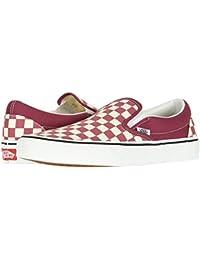 Mens U Clasic Slip-On Skate Shoe Checkerboard Dry Rose...