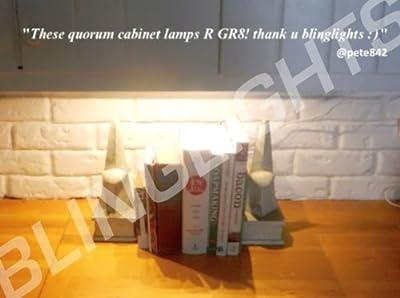 "18"" Quorum Fluorescent Under Cabinet Counter Closet Light White Lamp Kitchen Fixture T5"