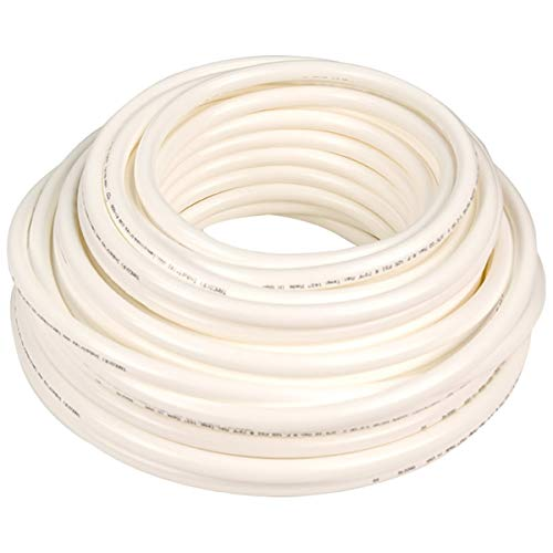 Hard High-Pressure Semi-Clear White Metric Nylon Tubing for Air and Water Applications - Inner Diameter 10 mm - Outer Diameter 12 mm - 10 ft