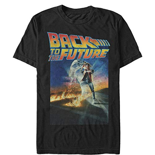 Jennifer Back To The Future (Fifth Sun Back to The Future Men's Retro Marty McFly Poster Black)