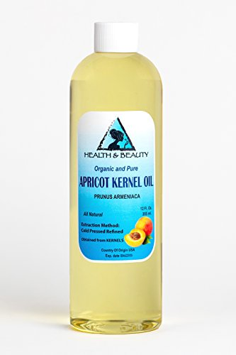 Apricot Kernel Oil Refined Organic Carrier Cold Pressed 100% Pure 12 oz