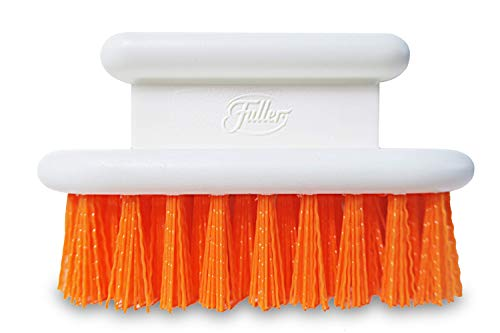 Fuller Brush Orange Scrub Brush - All Purpose Block Scrubber For Cleaning & Tough Stain Removal - Multi Surface Cleaner For Garments, Concrete, Carpet, Kitchen & Bathroom