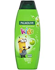 Palmolive Kids 3 in 1 Hypoallergenic Hair Shampoo, Conditioner & Body Wash Minions Happy Apple Detangles Hair 350mL