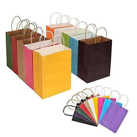 Amazon.com: Barhunkft(TM) Bolsa de regalo de papel kraft ...