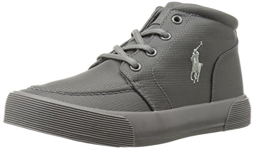 Polo Ralph Lauren Kids Boys' Faxon Ii Mid Sneaker, Triple Grey, 3 M US Little Kid