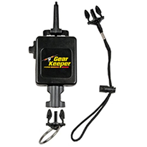 (Gear Keeper RT3-5913 Deluxe Locking Scuba Console Retractor Snap Clip Mount with Q/C-II Split Ring and Lanyard Accessory)