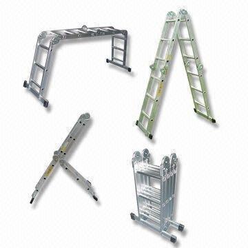 XtremepowerUS Aluminum Multi-Purpose Folding Ladder (12.5' W/ Platform)