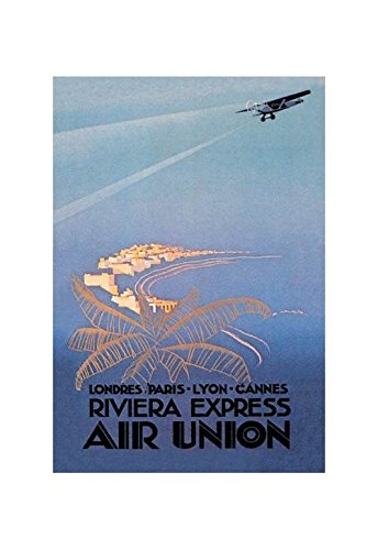 Riviera Express Air Union - Buyenlarge Riviera Express Air Union Print (Unframed Paper Poster Giclee 20x29)