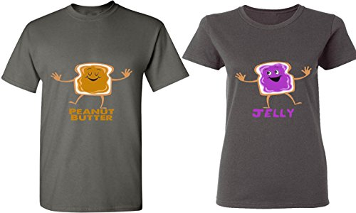 Peanut Butter & Jelly - His and Her T-Shirts - Tees