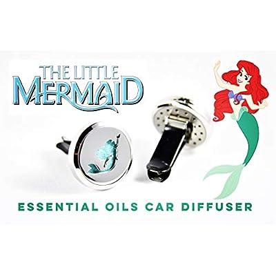 FIKA Ariel Little Mermaid Car Air Freshener Diffuser Vent Clip Locket Aromatherapy Essential Oils (Car Diffuser): Beauty