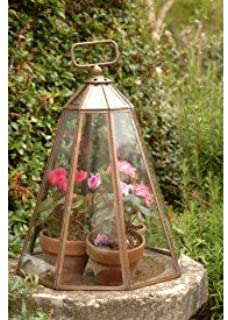 Traditional and Stylish Copper and Glass Garden Bell Cloche