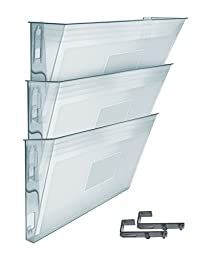 Acrimet Wall-mounted Modular File Holder (3 - Pack) (Crystal Color)