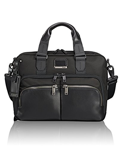Tumi Men's Alpha Bravo Albany Slim Commuter Brief, Black by Tumi