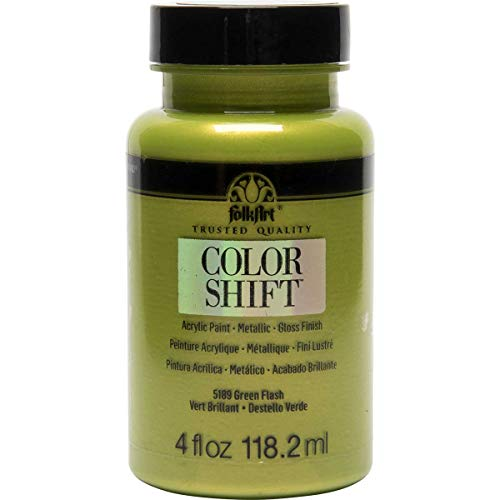 FolkArt Color Shift Acrylic Paint in Assorted Colors (4 oz), 5189 Green Flash