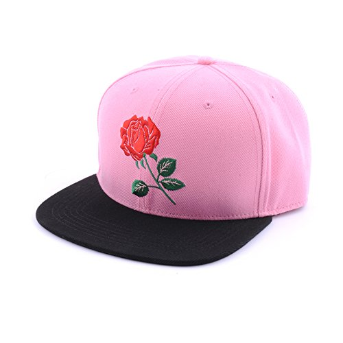3e4314e00a9 AUNG CROWN Rose Flat Bill Snapback Hats Embroidered Women Men Adjustable  Baseball Caps. by aung crown. Color  Black. product-variation.  product-variation