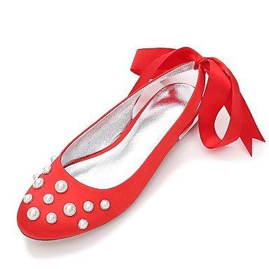 Bowknot Vestido Verano Confort Las Shoes Plana Azul Boda Mujeres'S Wedding Satin Champán 5 amp;Amp; UK8 Primavera 5 Heelivory Rhinestone De RTRY EU42 Rubí Noche CN43 US10 6F0z0