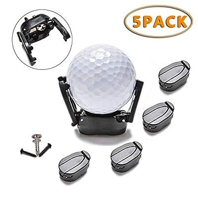 Saprex Golf Ball Retriever [5-Pack] Mini Foldable Golf Ball Pick up Retriever Putter Grabber Sucker Claw Plastic Black Golf Accessories Tool Fits All Putter Ball Retriever